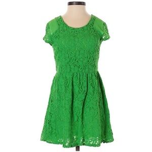 Urban Outfitters green lace skater dress 160